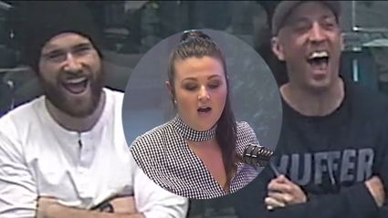 Megan busts out a rap but doesn't realise the boys are secretly filming her