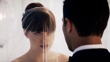 We get to see Ana's wedding dress in the 'Fifty Shades Freed' teaser!