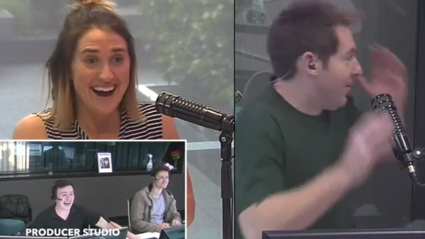 A caller reveals that she caught PJ getting busy on a plane