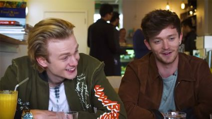 Cam & Georgia chat with The Vamps over milkshakes
