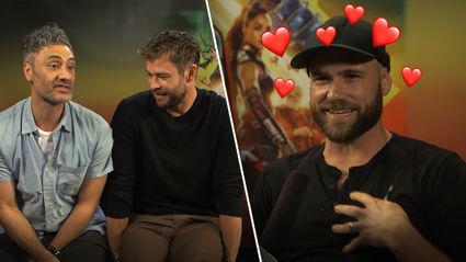 Vaughan interviewed Chris Hemsworth, Mark Ruffalo and Taika Waititi and we think he's in love