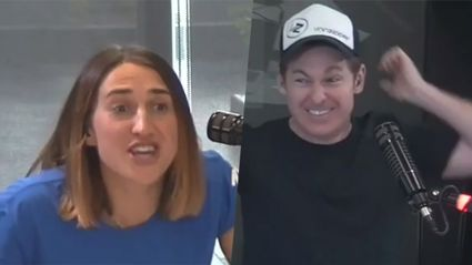 PJ has the most awkward chat live on air with Aussie Romance's new 'girlfriend'