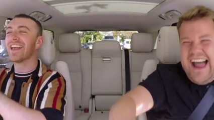 Special guests surprise Sam Smith on Carpool Karaoke!