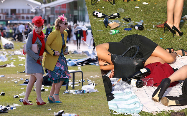Photos The Drunken Aftermath Of The Melbourne Cup 2017