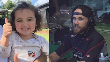 Vaughan makes 3y/o August cry with hilarious misunderstanding