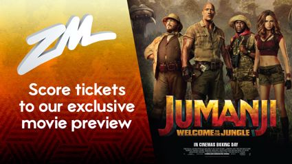 Be At ZM's Exclusive Movie Preview For Jumanji: Welcome To The Jungle!