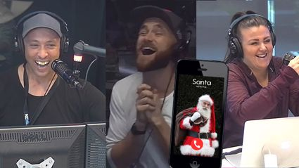 Fletch, Vaughan and Megan had a very special festive guest this morning!