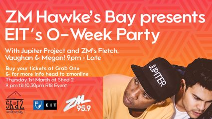 HAWKE'S BAY: Party with Jupiter Project and Fletch, Vaughan and Megan!