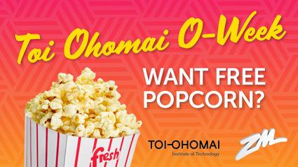 TAURANGA: Free popcorn at Toi Ohomai O-Week