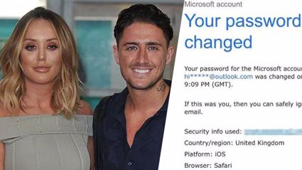 Charlotte Crosby hacked by ex Stephen Bear after claims she owes him money