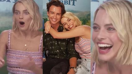 Margot Robbie's little brother surprised her during an interview and OMG OUR HEARTS