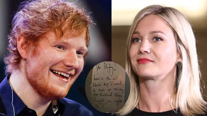 Ed Sheeran ends his feud with Hayley Holt in cutest possible