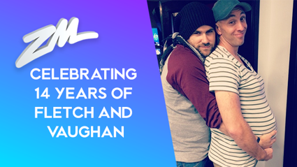 PHOTOS: Taking a look back at Fletch and Vaughan's 14 years of friendship