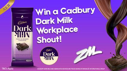 Win a Cadbury Dark Milk chocolate workplace shout!