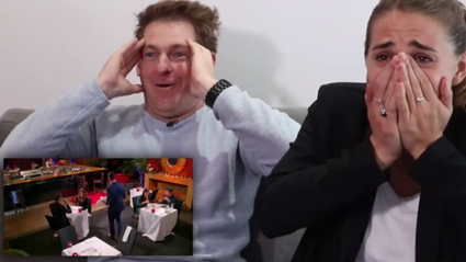 Jase and PJ cringe as they watch PJ's awkward date on 'First Dates NZ'
