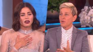 Ellen DeGeneres makes awkward slip of the tongue whilst introducing Jenna Dewan
