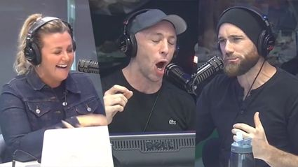 Fletch, Vaughan and Megan did the show hungover and the plot was lost