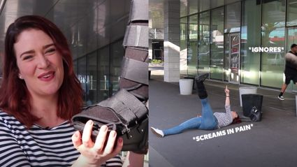 Producer Caitlin tried to land a husband by wearing a Moon Boot... and failed epically