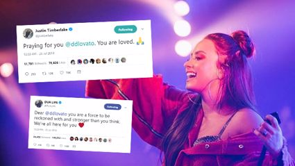 Celebrities react to news of Demi Lovato's overdose