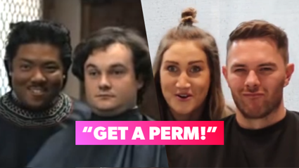 Bree & Clint have recreated the iconic 'get a perm' ad