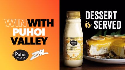 WIN cash with Puhoi Valley's Lemon Cheesecake fresh flavoured milk