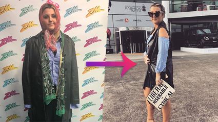 How Megan turned lost property items into a fashionable outfit for NZ Fashion Week