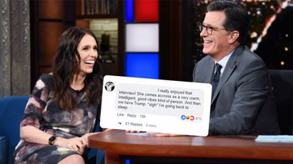 Americans are super jealous of NZ after Jacinda Ardern's Late Show appearance