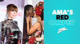Taylor Swift shines on the AMA's red carpet