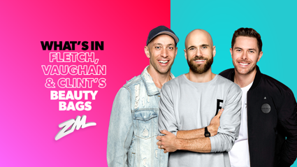 Find out what's in Fletch, Vaughan and Clint's beauty bags!