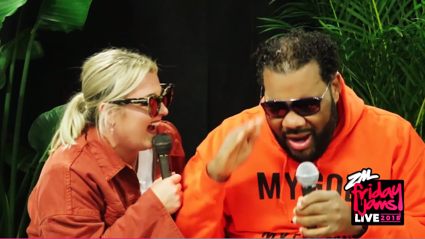Megan gets advice from Fatman Scoop ahead of Friday Jams Live