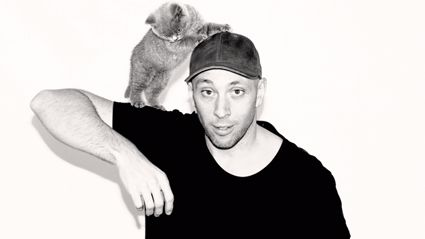 Fletch's new-born photoshoot with his cat Karen