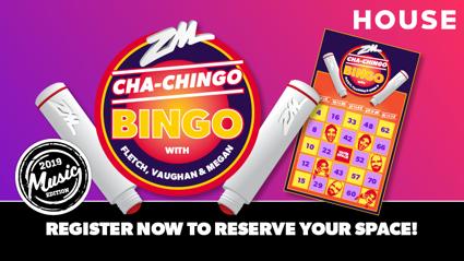 Fletch, Vaughan and Megan's CHA-CHINGO BINGO!