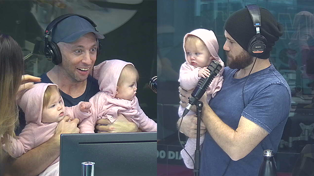 Fletch held babies for the first time and his face says it all