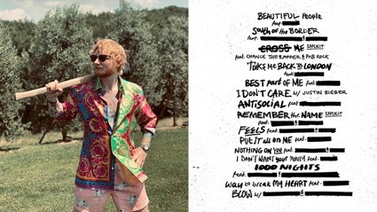 Ed Sheeran just dropped the full list of collabs on his next album!