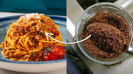 Mince with coffee apparently makes the best nachos and spag bol