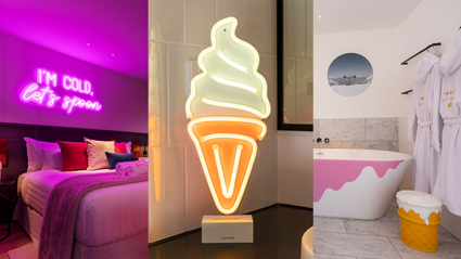 This New Zealand hotel room comes with unlimited ice cream