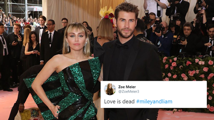 Fans react to Miley Cyrus and Liam Hemsworth's shocking split