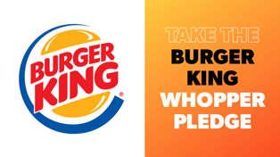 Burger King's Whopper Pledge