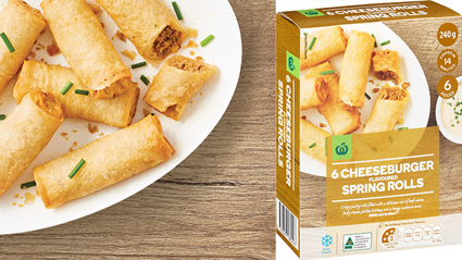 Countdown is selling cheeseburger spring rolls and we're here for it