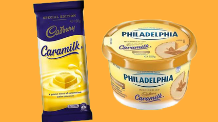 Caramilk Philadelphia exsists so you can eat it with EVERYTHING