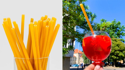 Bars are starting to use pasta straws to reduce plastic!