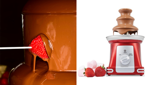 Kmart is selling a chocolate fountain so we're going to dip everything