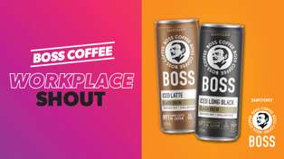 Win A Boss Coffee Workplace Shout