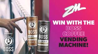 Win With The Boss Coffee Vending Machine