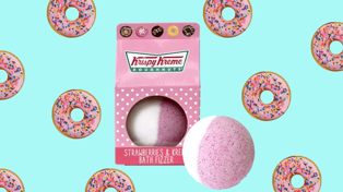 This Krispy Kreme donut bath bomb might be what dreams are made of