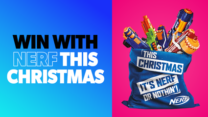 Win with NERF this Christmas