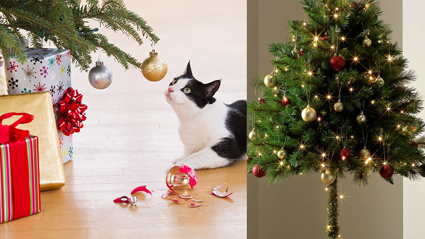 These half-Christmas trees will be safe from your furry friends!