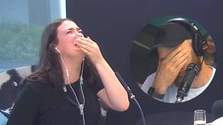 Producer Caitlin's last break on air had us all in tears