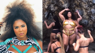 Lizzo just filmed a dance video at an Auckland beach like a bad b*tch!