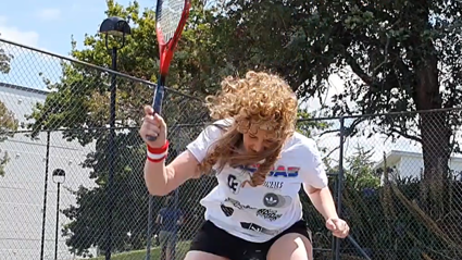 How hard is to break a tennis racket? Bree & Clint investigate